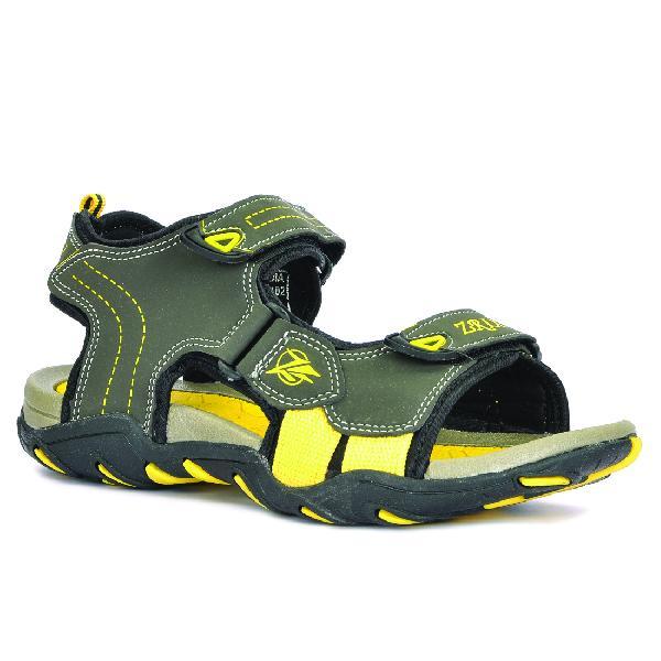 SDZ 102 Mens Mehndi & Yellow Sandals 01