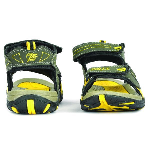 SDZ 102 Mens Mehndi & Yellow Sandals 03