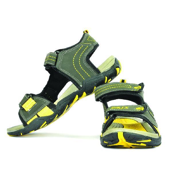 SDZ 102 Mens Mehndi & Yellow Sandals 05