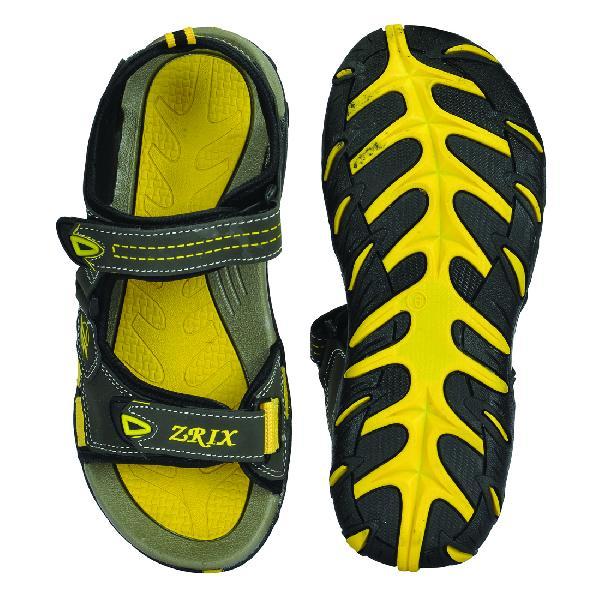 SDZ 102 Mens Mehndi & Yellow Sandals 06