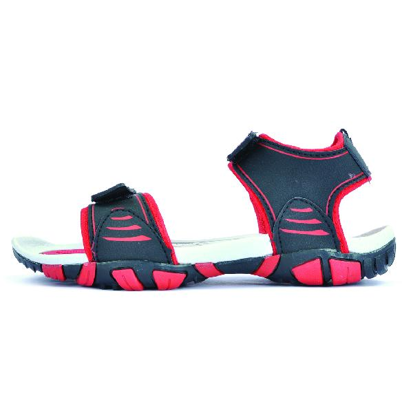 SDZ 113 Mens Black & Red Sandals 02
