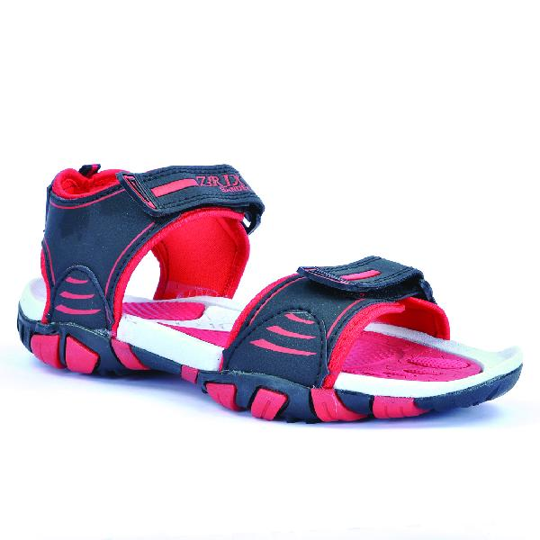 SDZ 113 Mens Black & Red Sandals 06