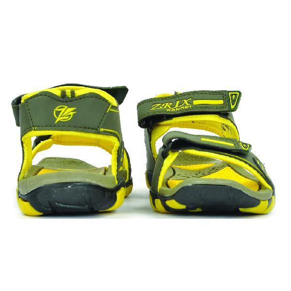 SDZ 113 Mens Mehndi & Yellow Sandals 01