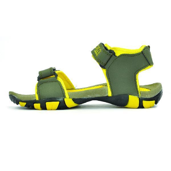 SDZ 113 Mens Mehndi & Yellow Sandals 03