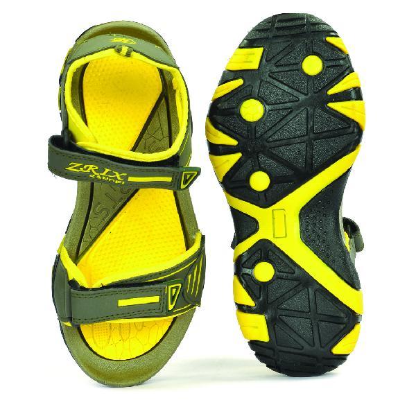 SDZ 113 Mens Mehndi & Yellow Sandals 04