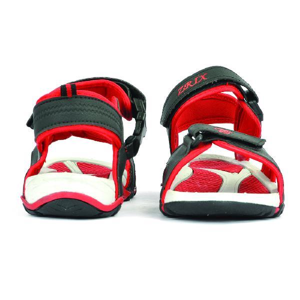 SDZ 116 Mens Black & Red Sandals 02