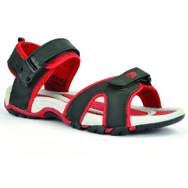 SDZ 116 Mens Black & Red Sandals 05