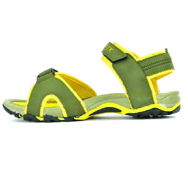 SDZ 116 Mens Mehndi & Yellow Sandals 02