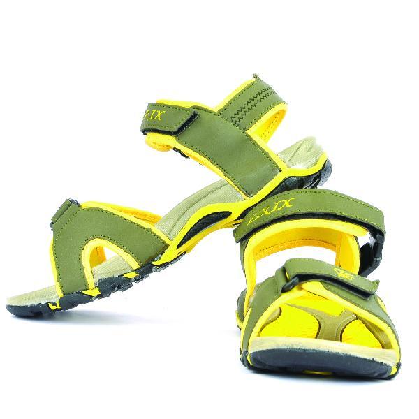 SDZ 116 Mens Mehndi & Yellow Sandals 04