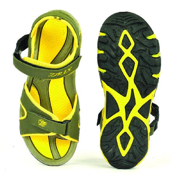 SDZ 116 Mens Mehndi & Yellow Sandals 05