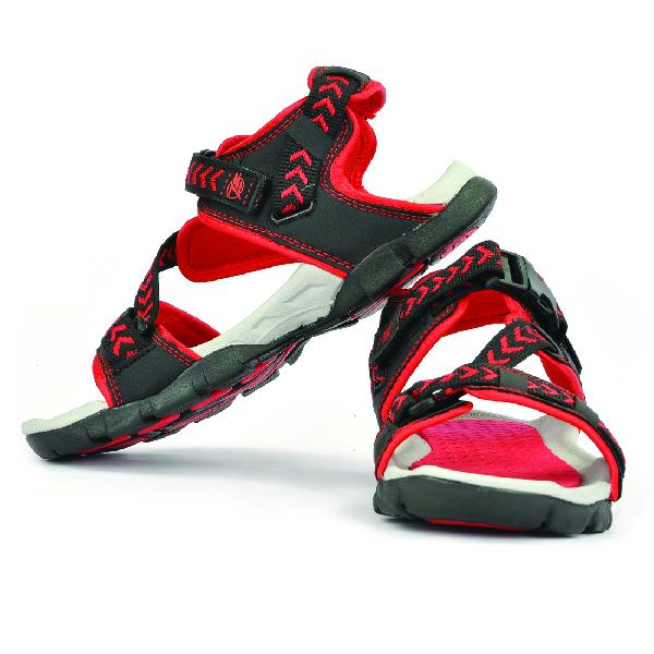SDZ 117 Mens Black & Red Sandals 03