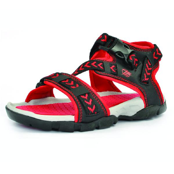 SDZ 117 Mens Black & Red Sandals 06