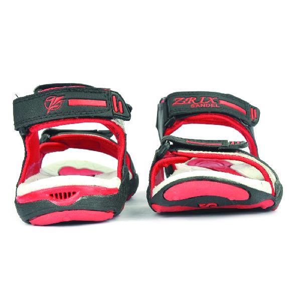 SDZ 119 Mens Black & Red Sandals 02