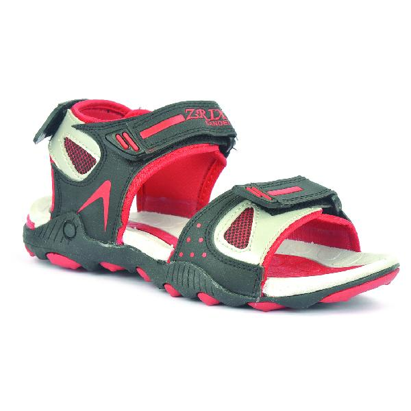 SDZ 119 Mens Black & Red Sandals 05