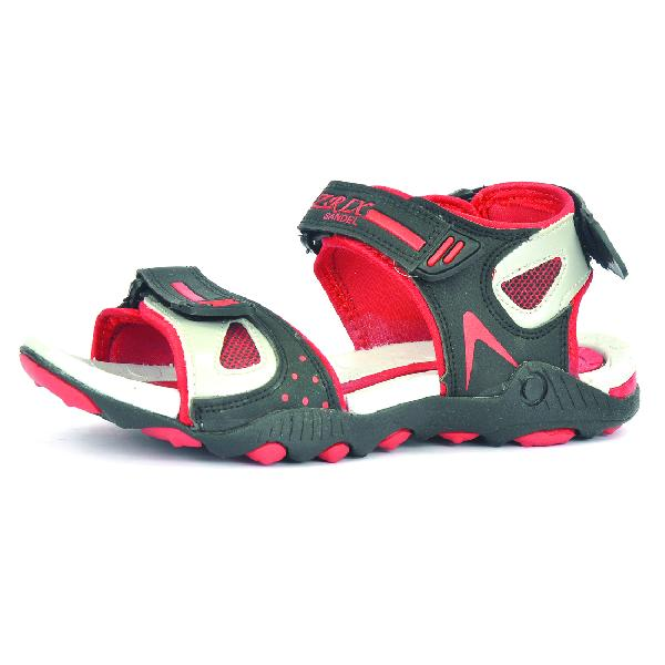 SDZ 119 Mens Black & Red Sandals 06