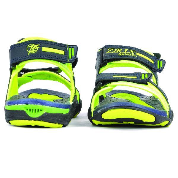 SDZ 119 Mens Mehndi & Yellow Sandals 02