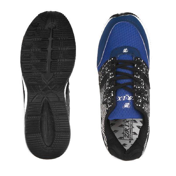 ZX 11 Mens Black & Royal Blue Shoes 05