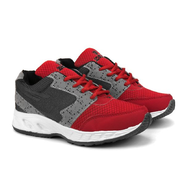 ZX-11 Mens Grey & Red Shoes 01