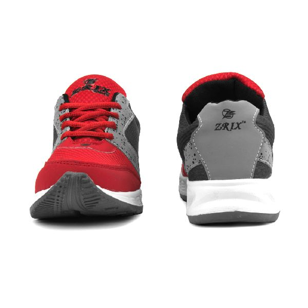 ZX-11 Mens Grey & Red Shoes 02