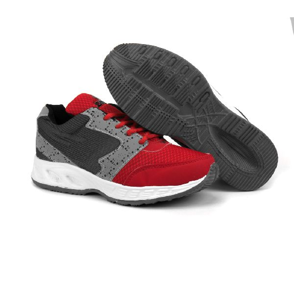 ZX-11 Mens Grey & Red Shoes 04