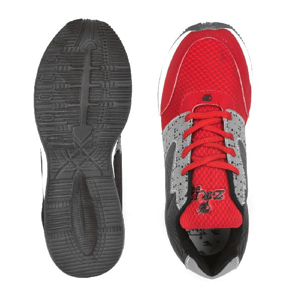 ZX-11 Mens Grey & Red Shoes 05