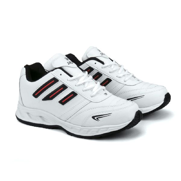 ZX-12 Mens White & Black Shoes 01