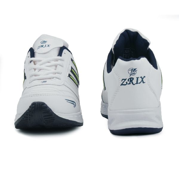 ZX-12 Mens White & Blue Shoes 02
