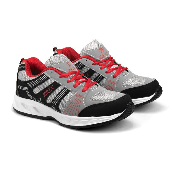 ZX-16 Black & Red Shoes 01
