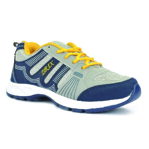 ZX 16 Mens Blue & Yellow Shoes 01