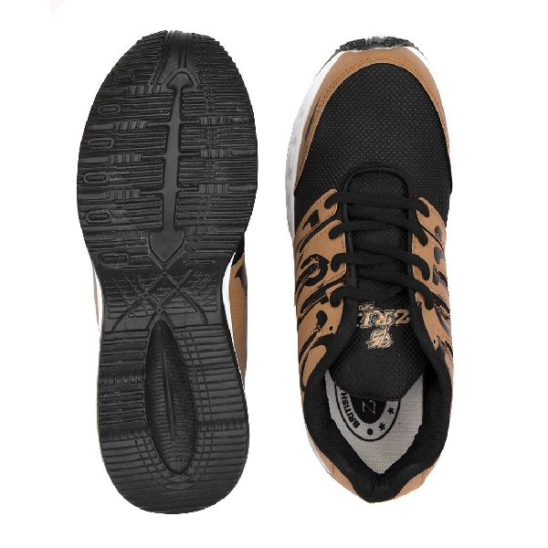 ZX-28 Tan Black Shoes 04