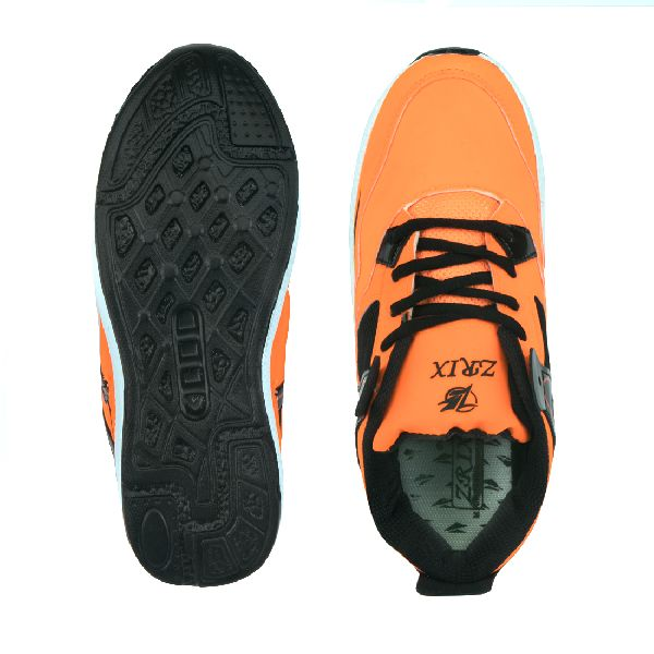 ZX-503 Black & Orange Shoes 05