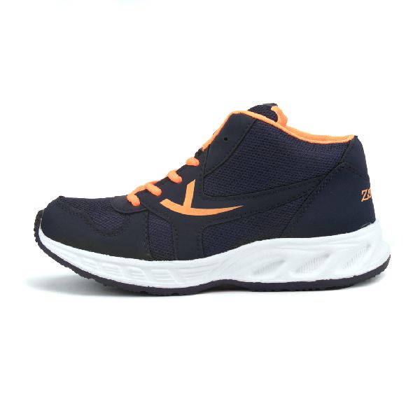 ZX-504 Navy Blue & Orange Shoes 03