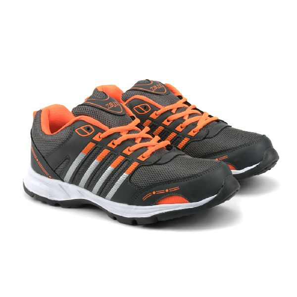 ZX 8 Mens Grey & Orange Shoes 01