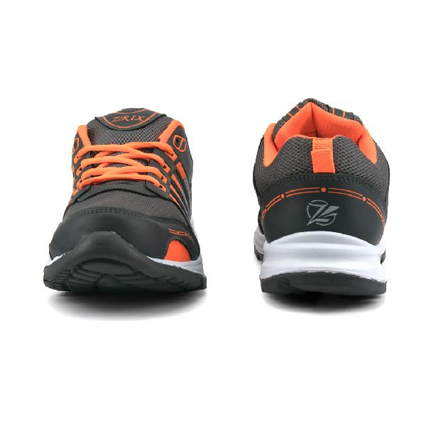 ZX 8 Mens Grey & Orange Shoes 02