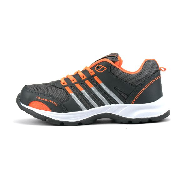 ZX 8 Mens Grey & Orange Shoes 03