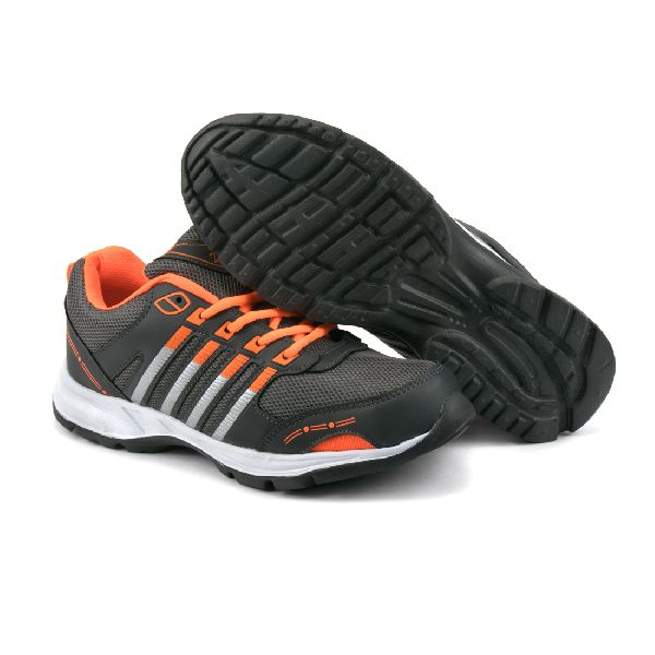 ZX 8 Mens Grey & Orange Shoes 04