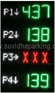 Parking Inventory LED Bays Display System 01