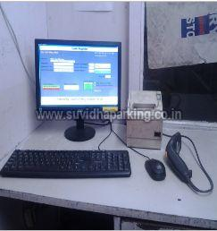 PC Based Man Operated Semi Automated Parking Management System