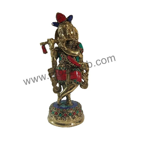 Brass Idol Statue 03