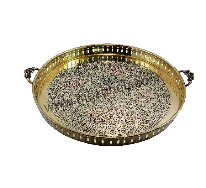 Brass Round Tray 01