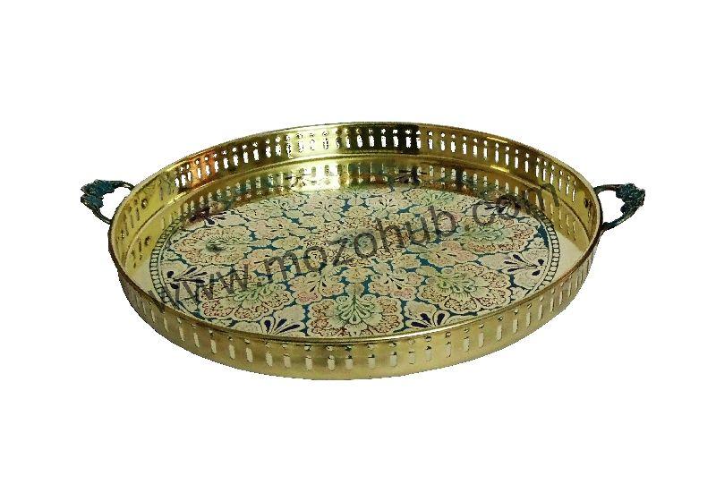 Brass Round Tray 06