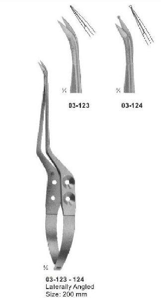 03-123-124 Spring Type Bayonet Shaped Scissor