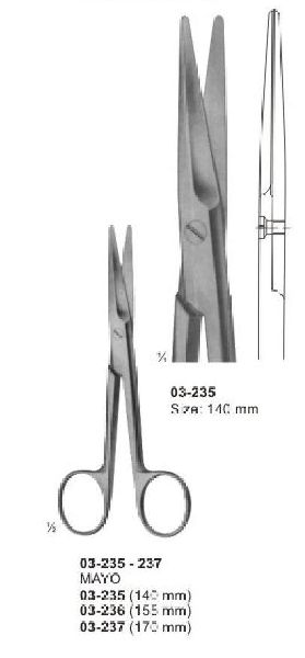 03-235-237 Nayco Dissecting & Surgical Scissor