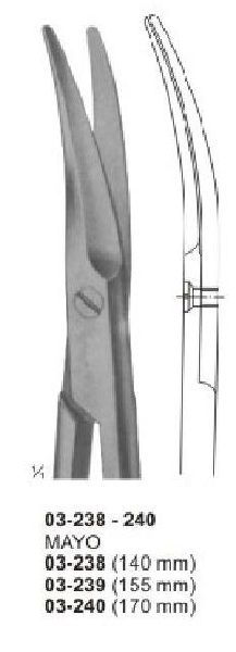 03-238-240 Mayco Dissecting & Surgical Scissor
