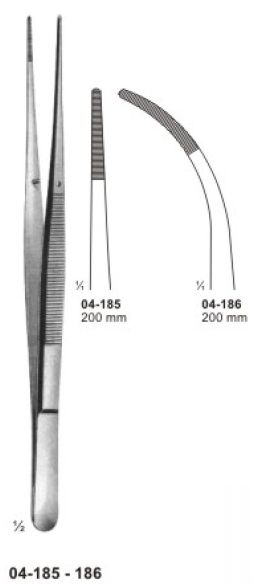 04-185-186 Delicate Dissecting Forceps