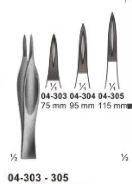 04-303-305 Splinter and Cilia Forceps