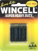 4 x 1 AAA Wincell Super Heavy Duty Batteries