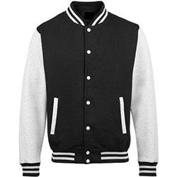 Black Wool Body with Leather Sleeves Jackets , WB-1903 Varsity Jacket