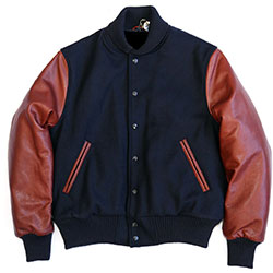 Varsity Jackets with Leather Sleeves, College Jackets, WB-1905 Varsity Jacket