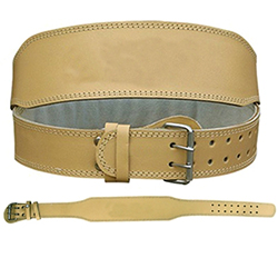 WB-402 Plain Leather Weight Lifting Belt